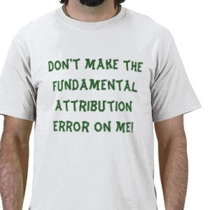 correspondence or fundamental attribution error