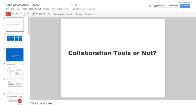 Collaboration Tools or Not?