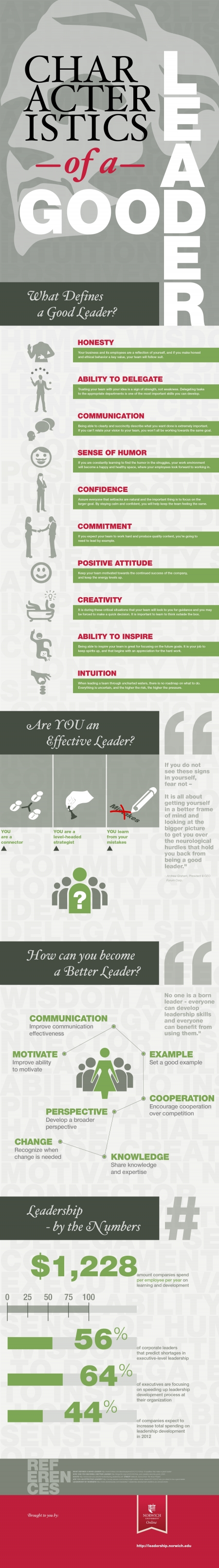 Characteristics of a Good Leader [Infographic]