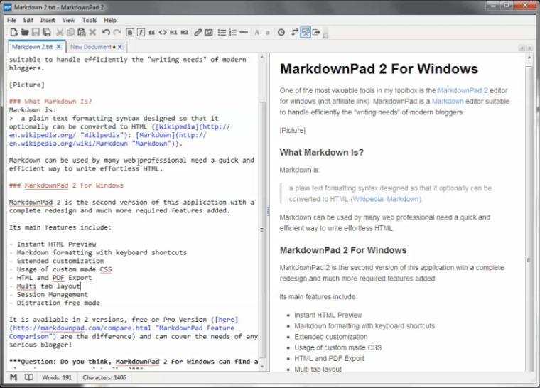 MarkdownPad 2 For Windows