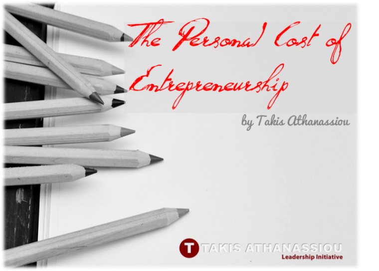 The Personal Cost of Entrepreneurship