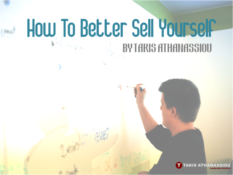 How To Better Sell Yourself