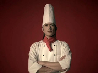 takki in Nissin CM as a chef