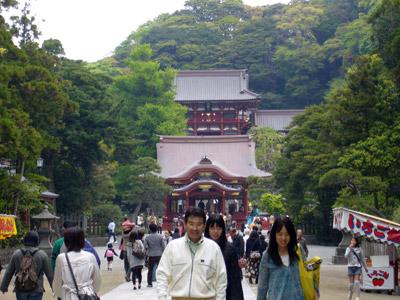 Hachimangu main shrine in Kamakura
