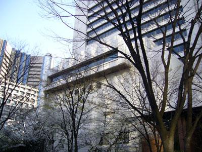 Sakuras outside Shimbashi Enbujo