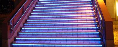Aquacity stairs
