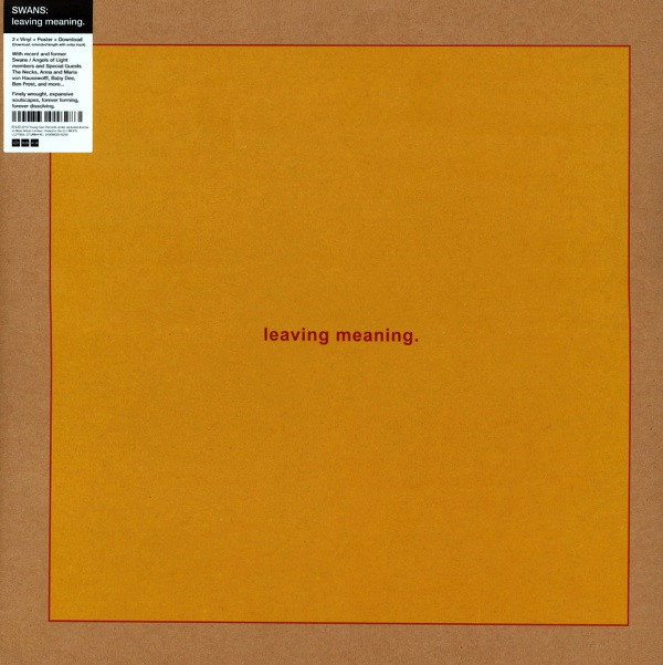 Swans - Leaving Meaning. - vinyl record