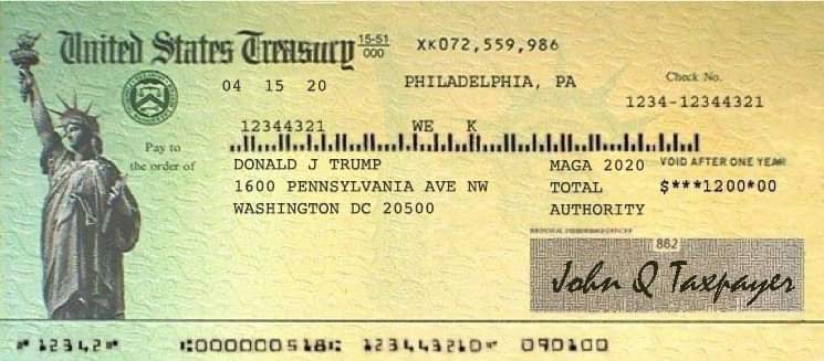 Covid Stimulus Payments Delayed Until Trump's Name is Printed as Recipient
