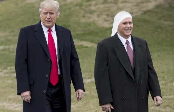 Mike Pence Asks Trump For One Final Atomic Wedgie Before Leaving Office