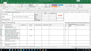 Sample Audit Worksheet