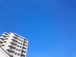 1月24日の朝の大阪は快晴です