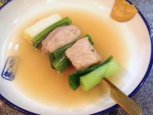ネギとマグロの「ねぎま」の関東煮(かんとだき/おでん)です