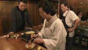 大原千鶴さんの「あてがえし」のコーナーで、即興でアテをふるまわれます