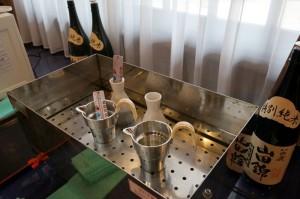 湯煎燗には、たこ梅の錫タンポもご用意しています
