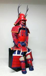 真田の赤揃え鎧甲です