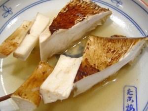 「松茸(まつたけ)」の関東煮(かんとだき/おでん)です