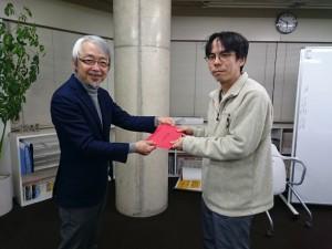 小阪裕司先生と上原さんです