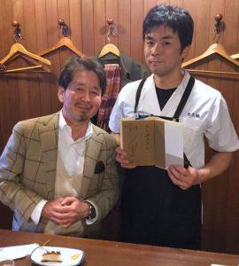 コラムニストの泉麻人さんと たこ梅本店の安藤さん
