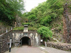 生野銀山の坑道の入り口