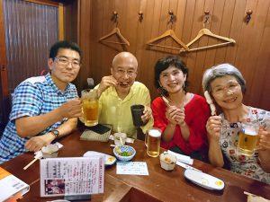 左から、てっちゃん、長田さん、勝矢さん、山田さん