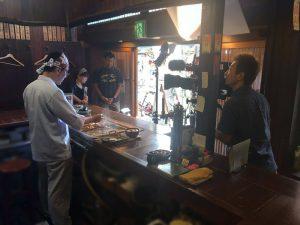 NHK BSプレミアム「美の壺」の道頓堀 たこ梅本店での取材