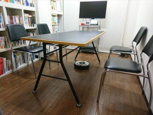 テーブルの下も、椅子の下もルンバくんが通過できます