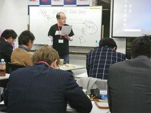 あきない実践道場の最終講で、これまでの取り組みを発表する松本さん