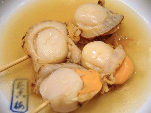 「帆立貝(ホタテ貝)」の関東煮(かんとだき/おでん)