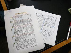 資格等級表と評価シート