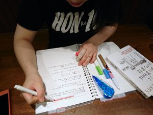 自分用のノートを作って仕事のことを覚えようと勉強中