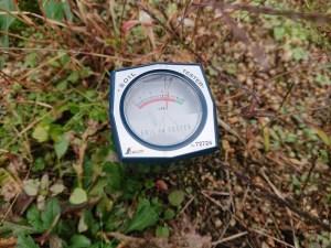 このポイントの土壌pHは6.4です