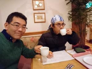 コーヒー飲みながら店長面談です