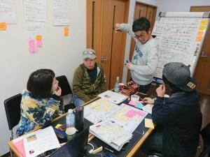 価値要素採掘マップと顧客の旅デザインマップを使ってプランニング中