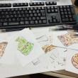 関東煮(かんとだき/おでん)のイラストを描いています