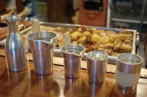 錫酒器「タンポ、上燗コップ、焼酎コップ」