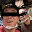 お店で透明マスクをテスト運用中