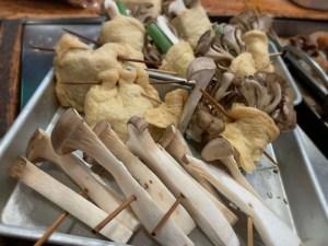 気まぐれ関東煮(かんとだき/おでん)の「えりんぎ」「舞茸」