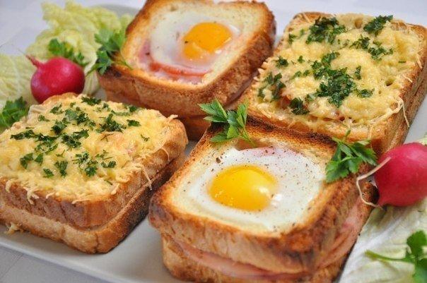 бутерброды с тостерного хлеба