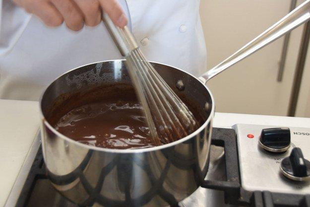 приготовление горячего шоколада