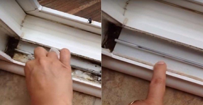 как почистить оконную раму