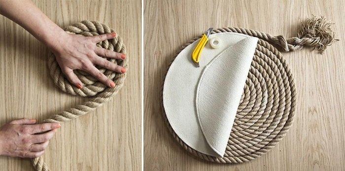 ковры из веревки своими руками