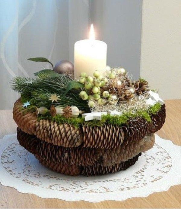 как украсить свечи