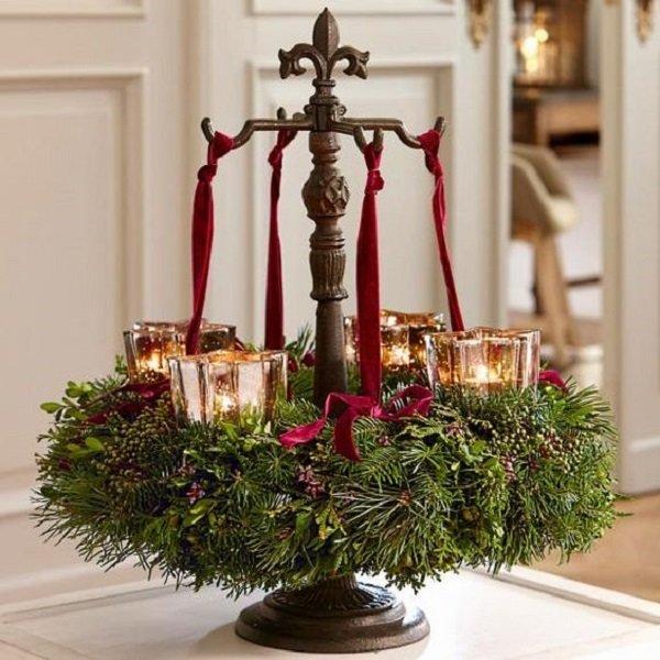 как украсить свечи своими руками на новый год
