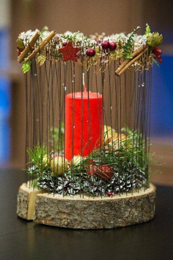 как украсить венчальные свечи