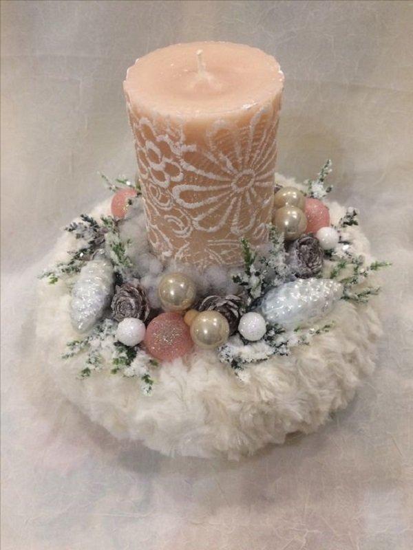 как украсить рождественские свечи