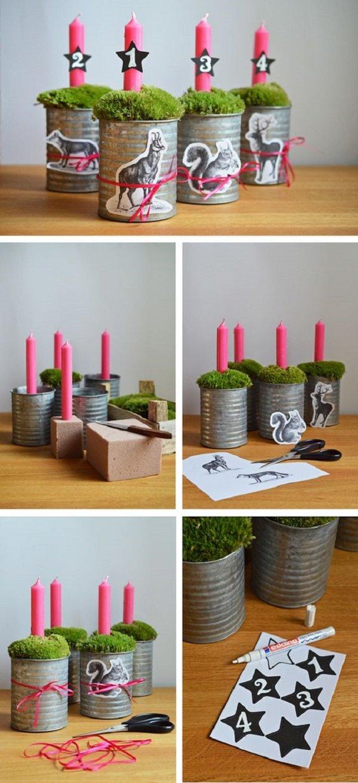 как украсить новогодние свечи своими руками