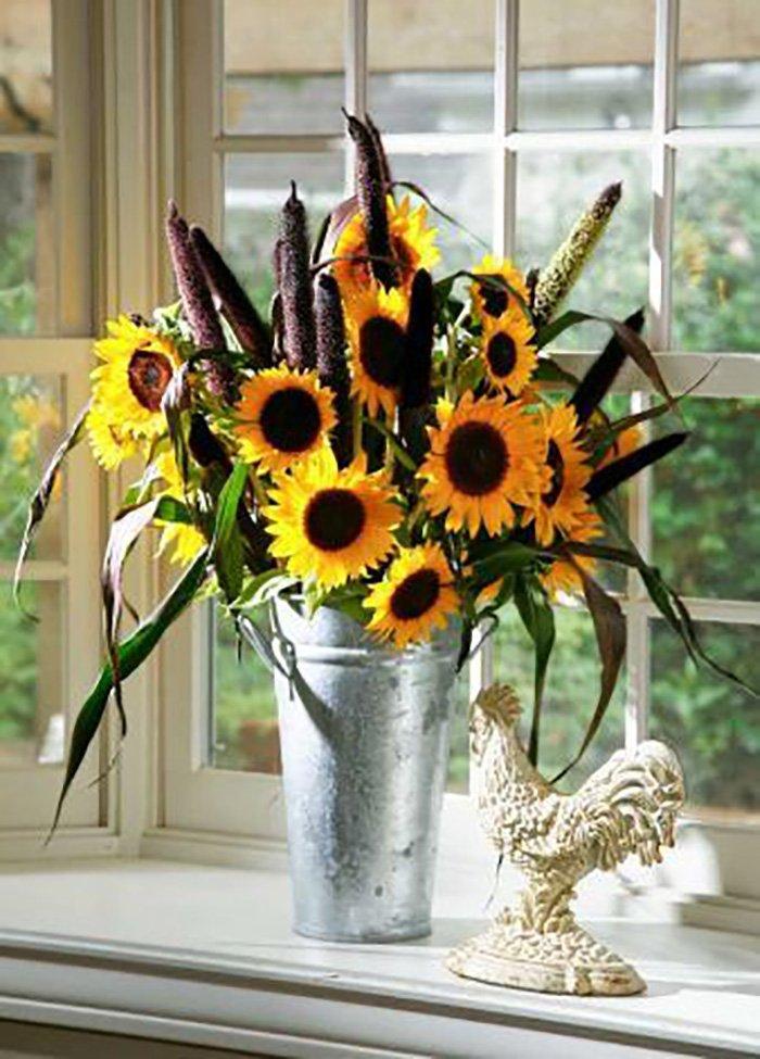 декор цветов своими руками
