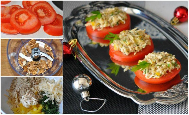 закуска из свежих помидоров
