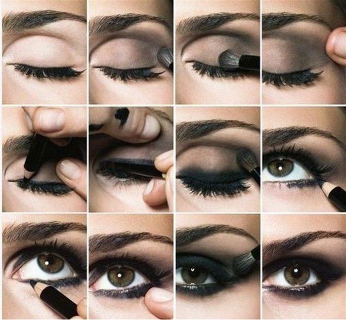 как сделать макияж глаз смоки айс