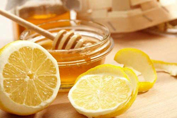 мёд и лимон